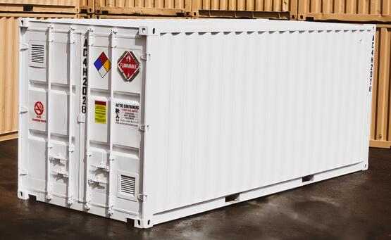 20x8_ 4 Hour Single Door Hazmat Container